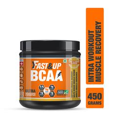 Fast&Up BCAA Supplement Powder - Lime & Lemon Flavour 450 gm