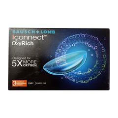 Bausch & Lomb iConnect OxyRich Monthly Contact Lens - 3 Lens/Box (-7.0)