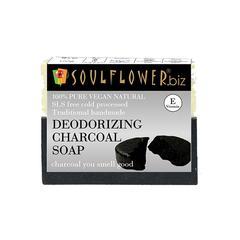 Soulflower Soap - Deodorizing Charcoal 150 gm