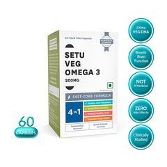 Setu Veg Omega 3 200 mg Liquid Filled Capsule 60's
