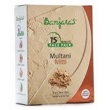 Banjaras 15Minute Multani Mitti Face Pack Powder 100 gm