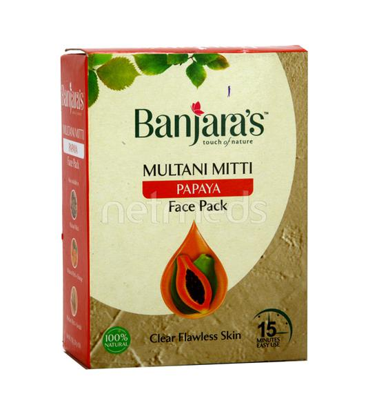 Banjaras 15Minute Multani Face Pack Powder - Papaya 100 gm