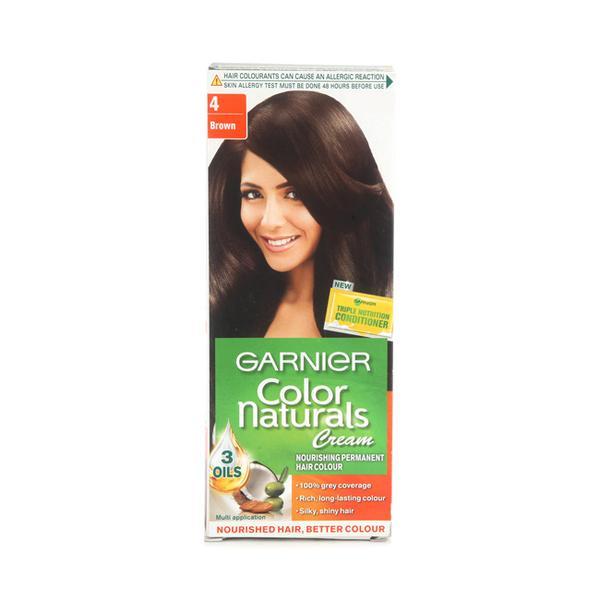 Garnier Color Naturals Cream - Shade 4 Brown (67.5 ml + 40 gm)
