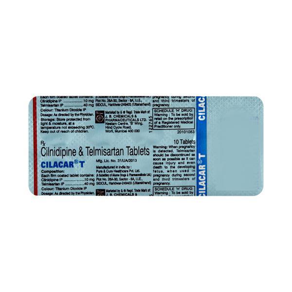 Cilacar T 40mg Tablet 10'S