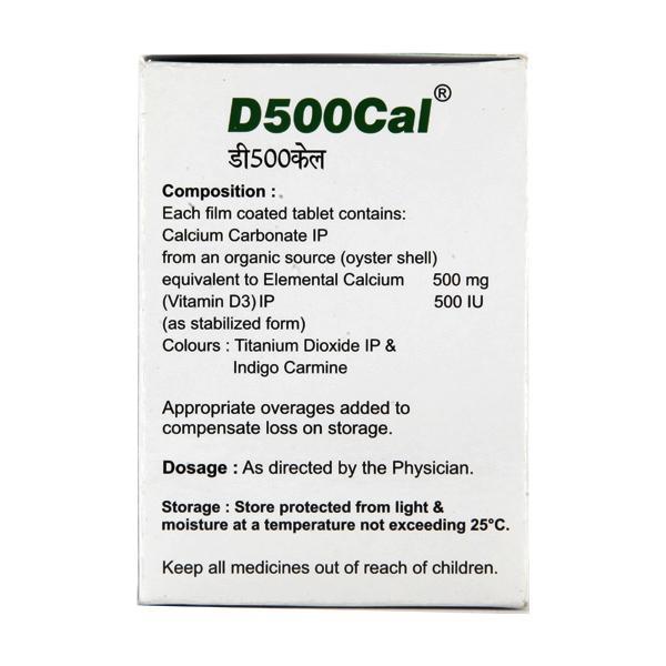 D 500 Cal Tablet 10'S