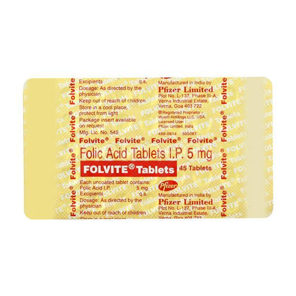 Folvite Tablet 45'S