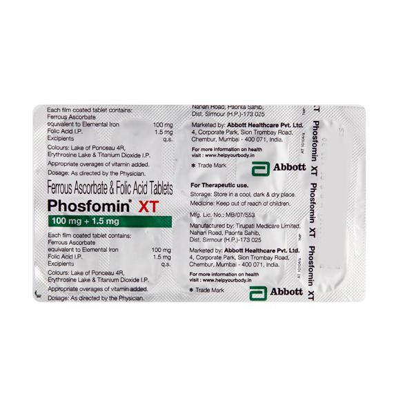 Phosfomin XT Tablet 10'S