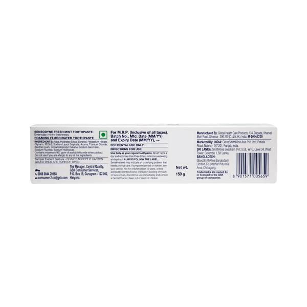 Sensodyne Fresh Mint Toothpaste 150 gm