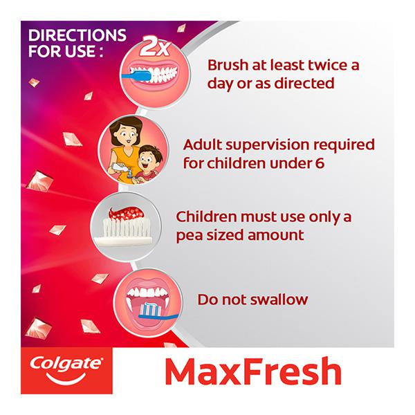 Colgate Max Fresh with Cooling Crystals Red Gel Toothpaste - Spicy Fresh 150 gm