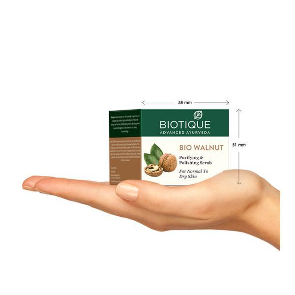 Biotique Bio Walnut Purifying & Polishing Scrub for Normal to Dry Skin 50 gm