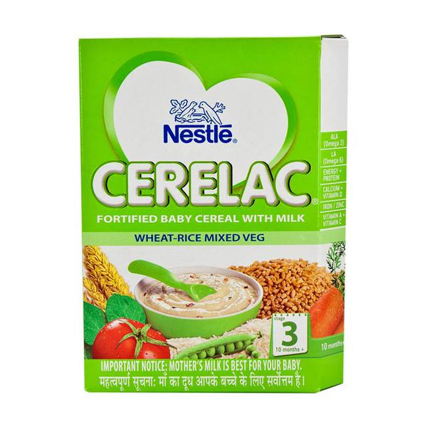 Nestle Cerelac Stage 3 (10 Months+) Powder - Wheat Rice Mixed Veg 300 gm (Refill Pack)