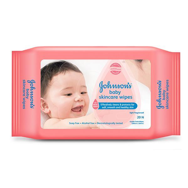 Johnson's Baby Skin Care Wipes 20's