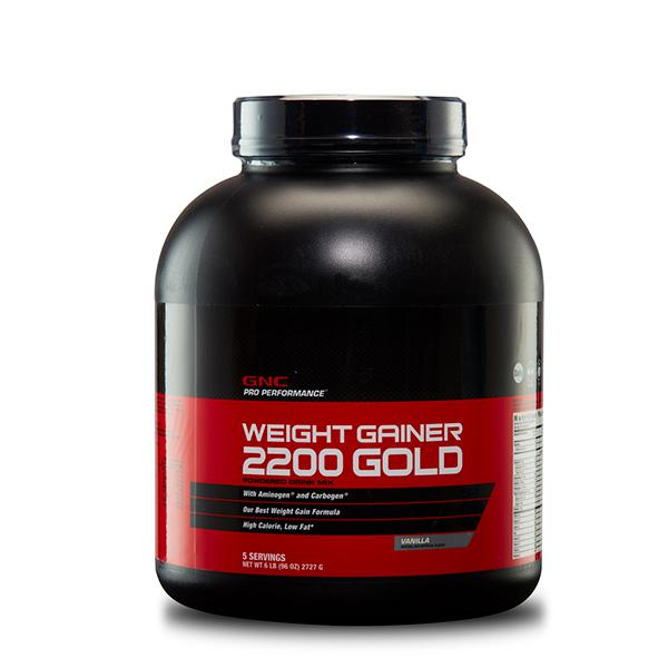 GNC Pro Performance Weight Gainer 2200 Gold Powder - Vanilla Flavour 6 lb