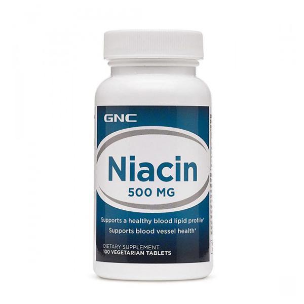 GNC Niacin 500 mg Vegetarian Tablets 100's