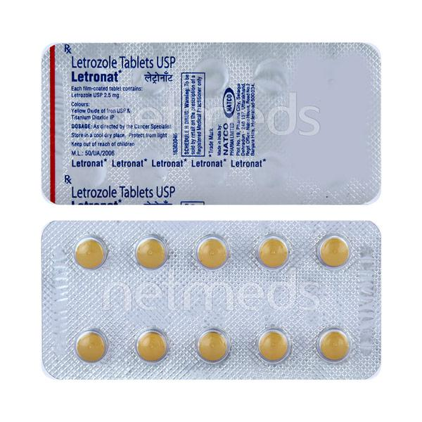Letronat 2.5mg Tablet 10'S