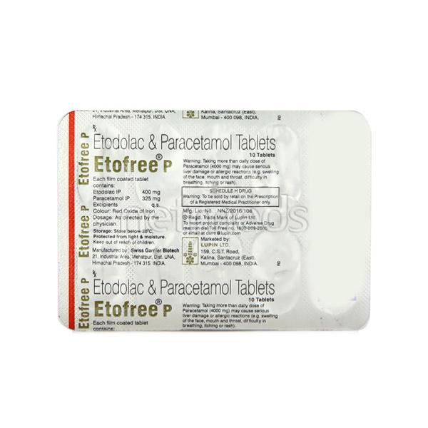 Etofree P Tablet 10'S