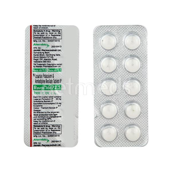 Revas AM 2.5mg Tablet 10'S