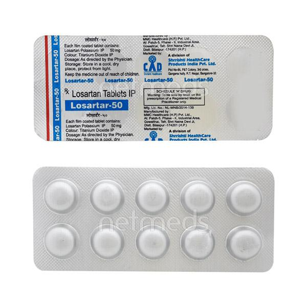 Losartar 50mg Tablet 10'S