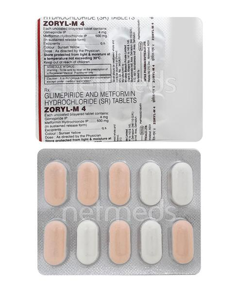 Zoryl M 4mg Tablet 10'S