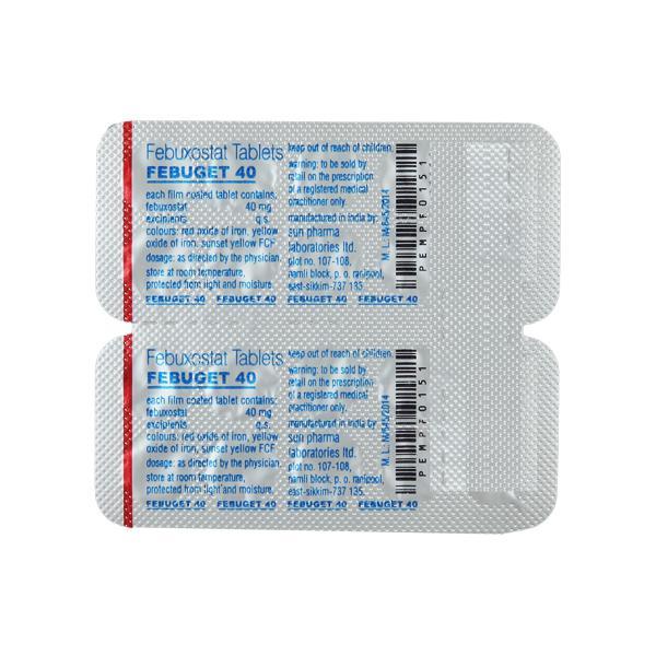 Febuget 40mg Tablet 10'S