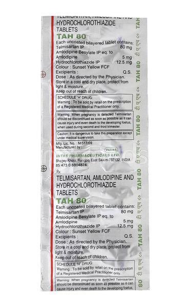 TAH 80mg Tablet 10'S