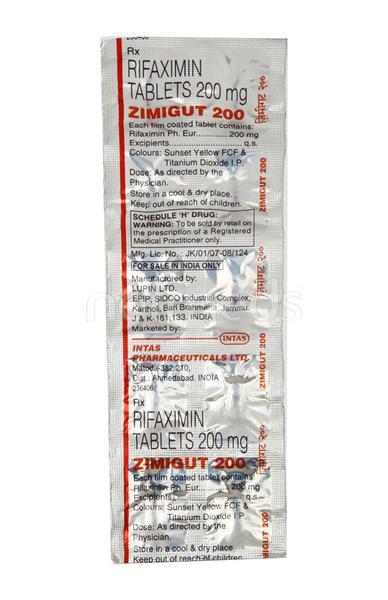 Zimigut 200mg Tablet 10'S