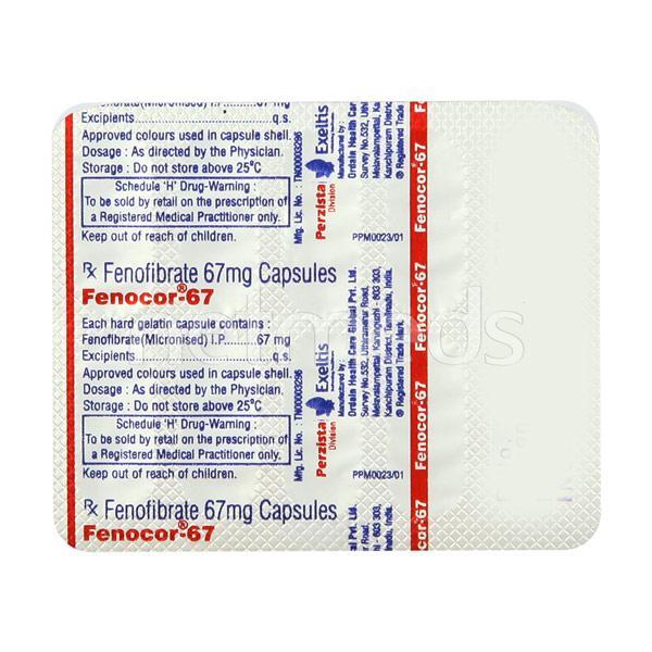 Fenocor 67mg Capsule 10'S
