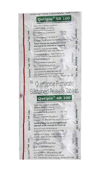 Qutipin SR 100mg Tablet 10'S