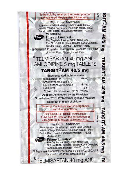 Targit AM 40mg Tablet 15'S