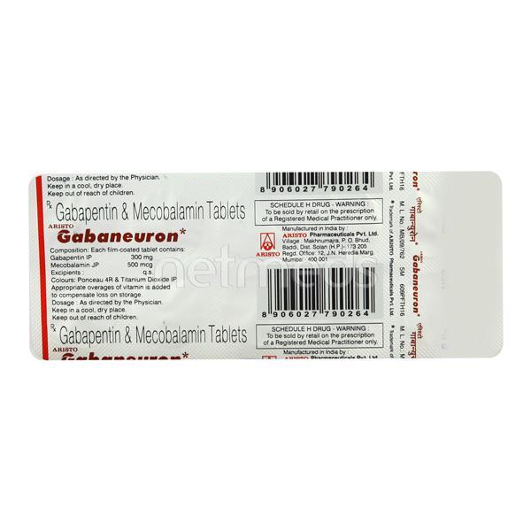 Gabaneuron Tablet 10'S