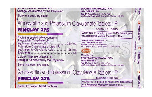 Penclav 375mg Tablet 10'S