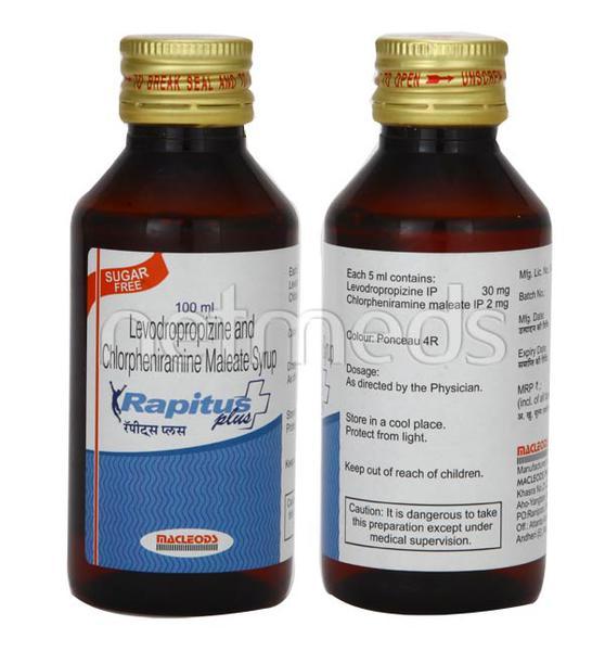 Rapitus Plus Sugar Free Syrup 100ml