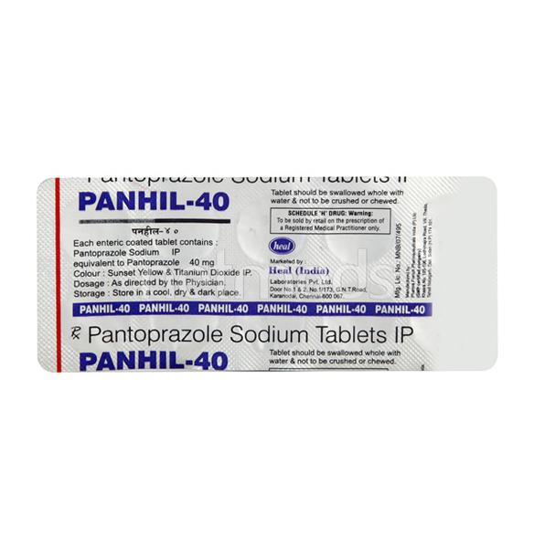 Panhil 40mg Tablet 10'S