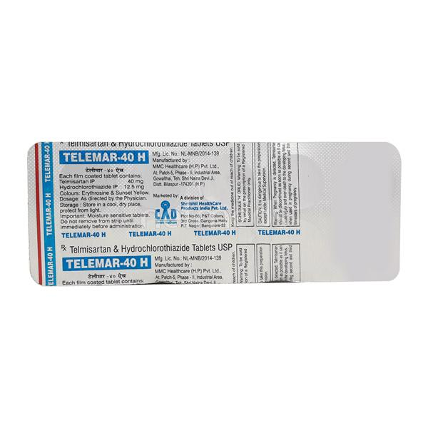 Telemar H 40mg Tablet 10'S