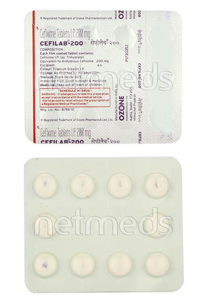 Cefilab 200mg Tablet 10'S