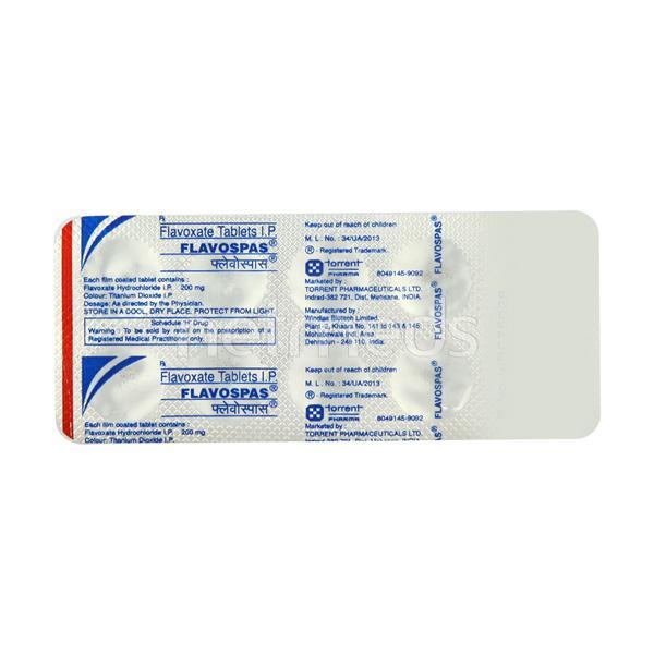 Flavospas 200mg Tablet 10'S