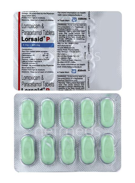 Lorsaid P 4mg Tablet 10'S