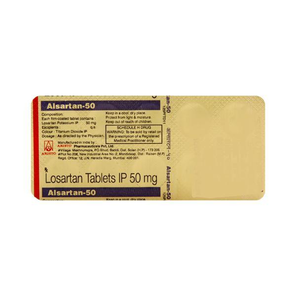 Alsartan 50mg Tablet 10'S