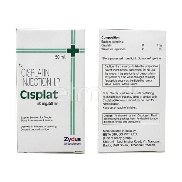 Cisplat 50mg Injection 50ml