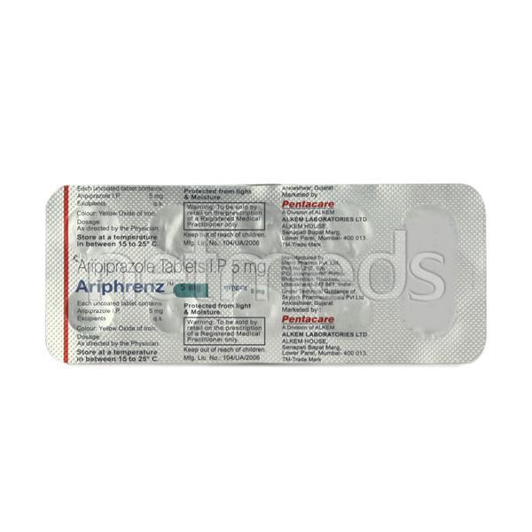 Ariphrenz 5mg Tablet 10'S