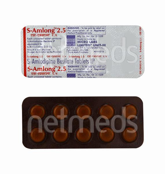 S Amlong 2.5mg Tablet 10'S
