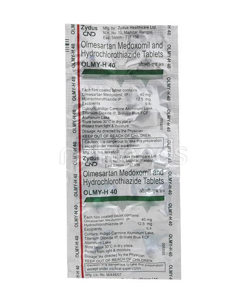Olmy H 40mg Tablet 10'S