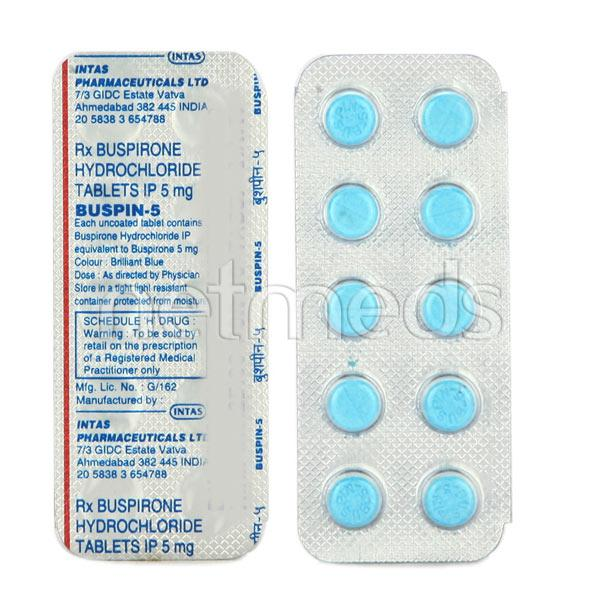 Buspin 5mg Tablet 10'S