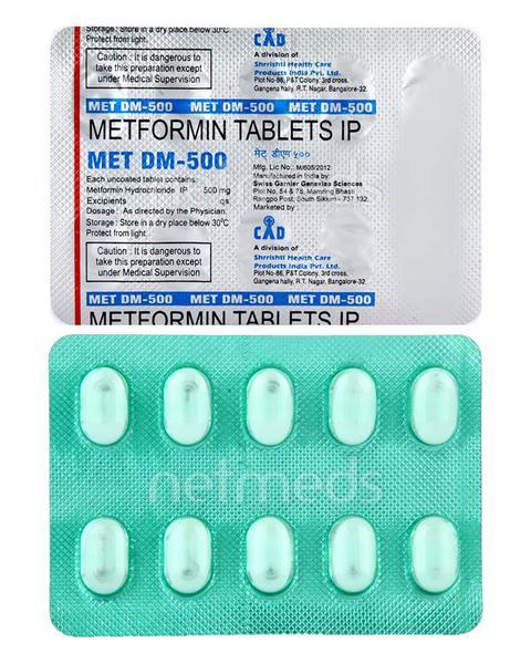 MET DM 500mg Tablet 10'S
