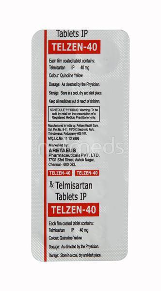 Telzen 40mg Tablet 10'S
