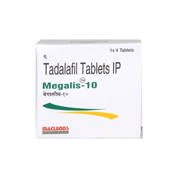 Megalis 10mg Tablet 4'S