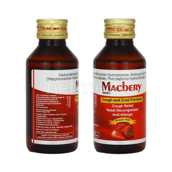 Macbery Sugar Free Syrup 100ml