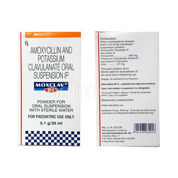 MOX Clav DS 457mg Suspension 30ml - Buy Medicines online at Best Price from  Netmeds.com
