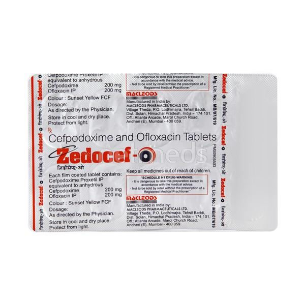 Zedocef O Tablet 10'S
