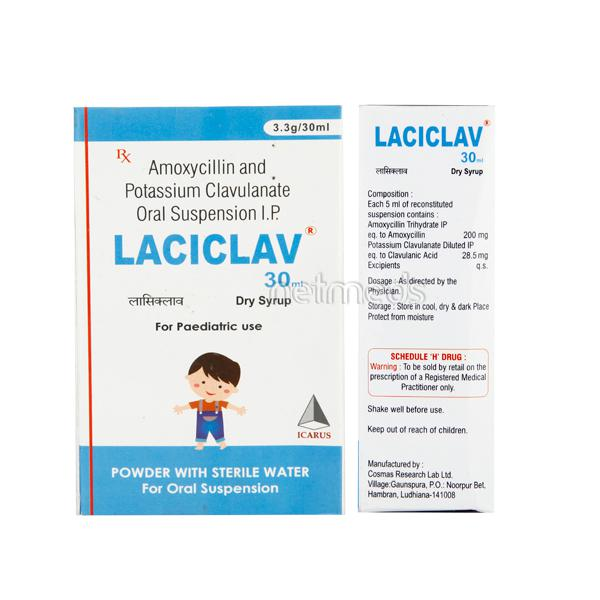 Laciclav Dry Syrup 30ml